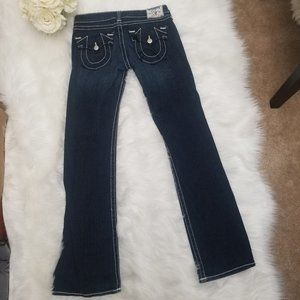 TRUE RELIGION Becky Dark Wash Jeans Sz 30